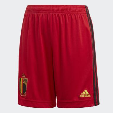 Short Belgique Domicile Rouge Enfants Football