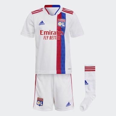 Miniconjunto primera equipación Olympique de Lyon 21/22 Blanco Niño Fútbol