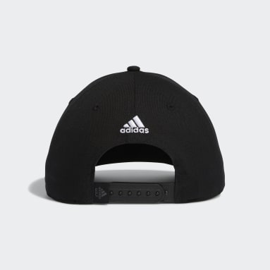 Men Golf Black adidas Script Curved Snapback Cap