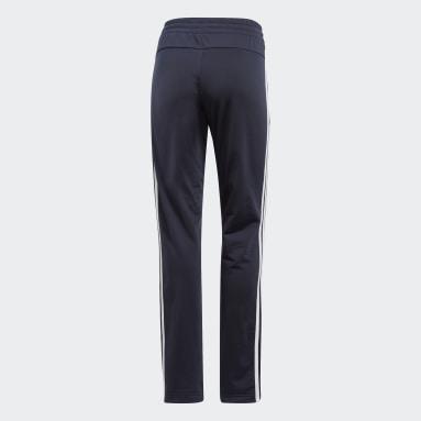 Women Sport Inspired Blue Essentials Tricot Open Hem Pants