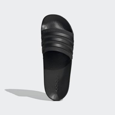 Men Swimming Black Adilette Shower Slides