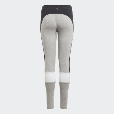 Youth 8-16 Years Sportswear Grey adidas Essentials Colorblock Leggings