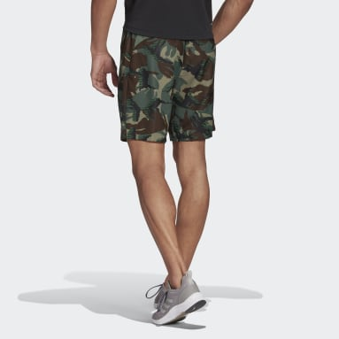 Men's Training Green adidas Designed 2 Move Camouflage AEROREADY Shorts