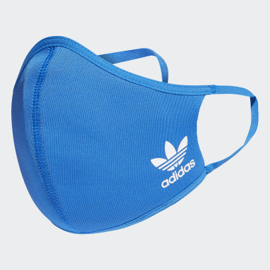 Máscara facial adidas em tecido TAMANHO PP/P (PACK DE 3) (UNISEX) Azul Kids Training