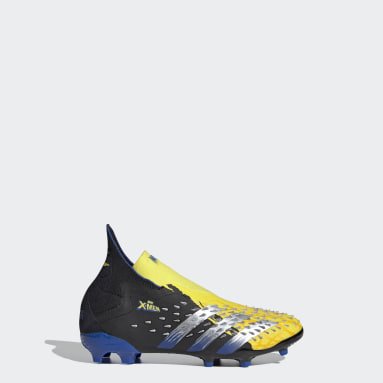 Chaussure Marvel Predator Freak+ Terrain souple Jaune Enfants Football