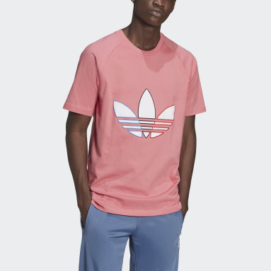 Heren Originals Roze Adicolor Tricolor T-shirt