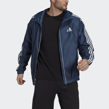 Men TERREX Blue BSC 3-Stripes Wind Jacket