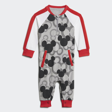 Kids Gym & Training Grey Disney Mickey Mouse Onesie