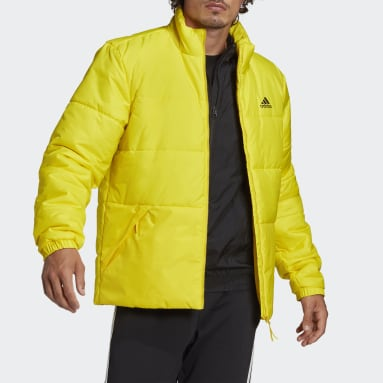 Men's Hiking Yellow BSC 3-Stripes Insulated Winter Jacket