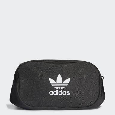 Originals Black Adicolor Branded Webbing Waist Bag