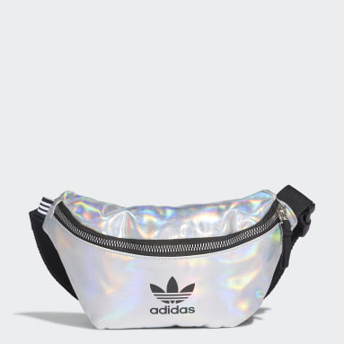 Women Originals Silver Metallic Waist Bag
