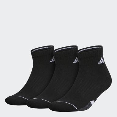 Men's Running Black Cushioned Quarter Socks 3 Pairs