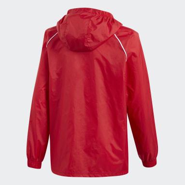 Deti Tréning A Fitnes červená Bunda Core 18 Rain