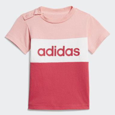 Meisjes Sportswear Roze Colorblock Setje