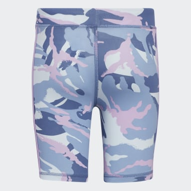 Youth Training Blue Print Cotton Bike Shorts
