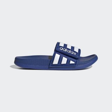 Children Yoga Blue Adilette Comfort Adjustable Slides