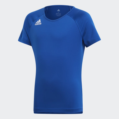 Children Volleyball Blue Hi Lo Jersey