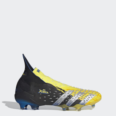 Men Football Yellow Marvel Predator Freak+ Firm Ground Boots