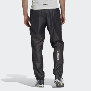 Men TERREX Black Terrex Agravic Trail Running Rain Tracksuit Bottoms