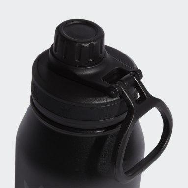 Baseball Black Steel Metal Bottle 1L