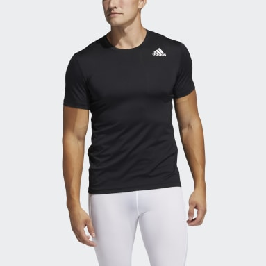 Men's Training Black Techfit Fitted Tee