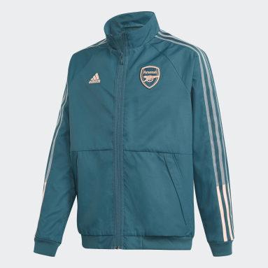 Barn Fotboll Grön Arsenal Anthem Jacket