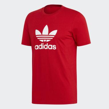 Camiseta Trefoil Rojo Hombre Originals