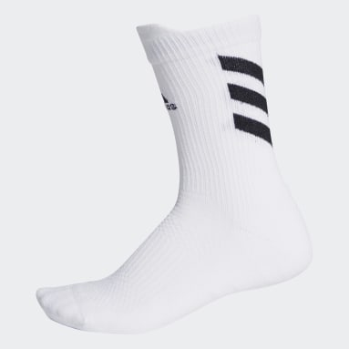 Tennis White Techfit Crew Socks