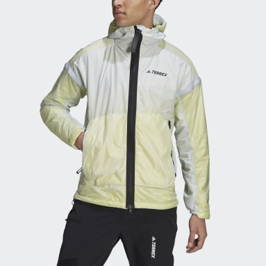 Terrex MYSHELTER Windweave Hooded Hiking Jacket Niebieski