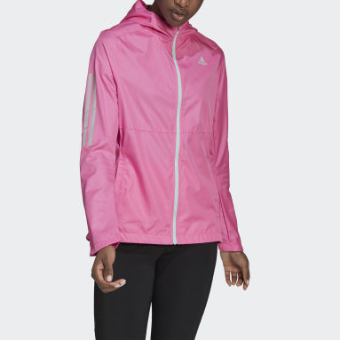 Jaqueta Corta-Vento Own the Run Hooded Rosa Mulher Running
