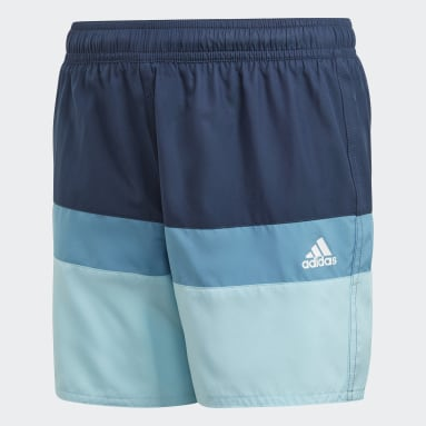 Colorblock Swim Shorts Niebieski