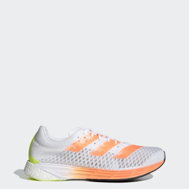 Men Running White Adizero Pro Shoes