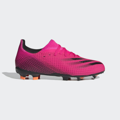 Boys Football Pink X Ghosted.3 Firm Ground Boots