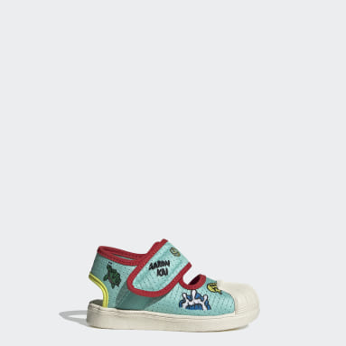 Infants Originals Green Superstar 360 Primeblue Sandals