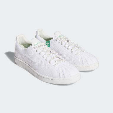 Pharrell Williams Primeknit Superstar Shoes Bialy