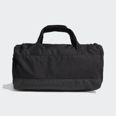 Yoga Black Essentials 3-Stripes Duffel Bag Small