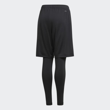 Youth 8-16 Years Football Black Condivo 18 Two-in-One Shorts