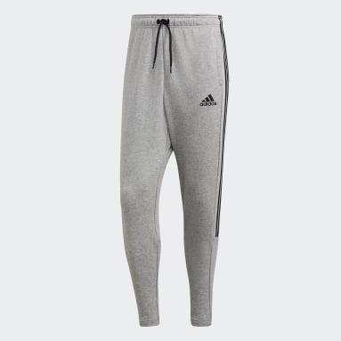 Pantalón Must Haves 3 Rayas Tiro Gris Hombre Sportswear