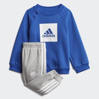 Kinder Fitness & Training 3-Streifen Fleece Jogginganzug Weiß