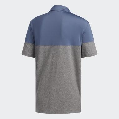 Men's Golf Grey Ultimate365 Heathered Blocked Polo Shirt