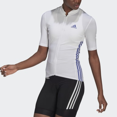 Maillot The Short Sleeve Cycling Blanc Femmes Cyclisme