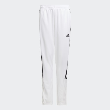 Kids Football White Tiro Track Pants