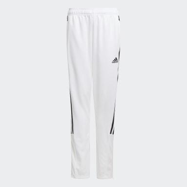 Kids Cricket White Tiro Track Pants