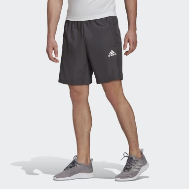 Men Training Grey AEROREADY Designed 2 Move Woven Sport Shorts