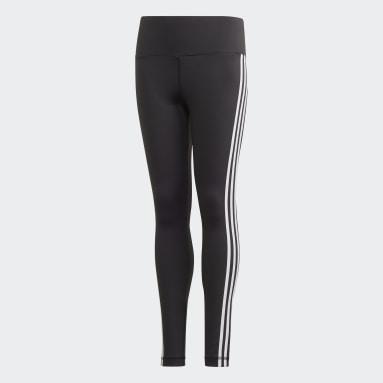 Girls Yoga Black Believe This 3-Stripes Tights