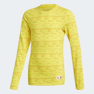 Youth Training Yellow adidas x Classic LEGO® Bricks Long Sleeve Fitted Tee