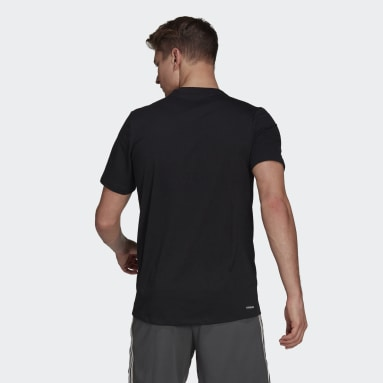 Men Gym & Training Black AEROREADY Designed 2 Move Sport Tee
