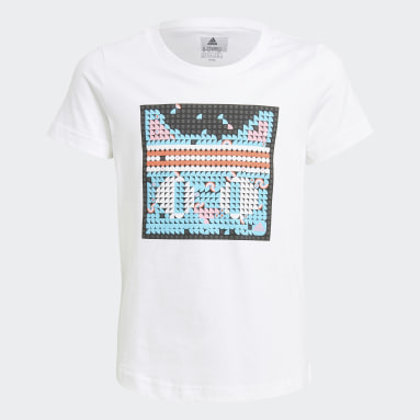 Girls Lifestyle White adidas x LEGO® DOTS™ Graphic Tee