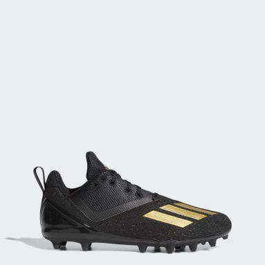 Men's Football Black Adizero Spark Football Cleats