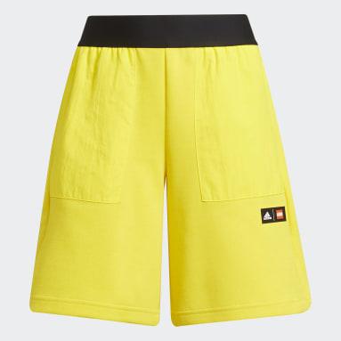 Shorts adidas x Classic LEGO® Bolsillo con Cierre Amarillo Niño Training